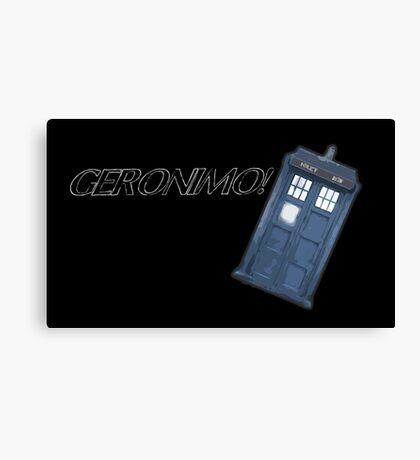 Geronimo - Blue Box Canvas Print