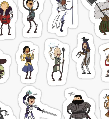 Dragon Age Adventure Time STICKER SET Sticker