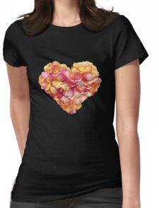 Heart of the rose petals Womens Fitted T-Shirt