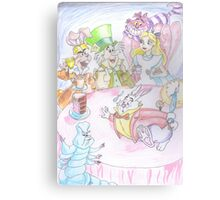 Mad HattersTea Party Canvas Print