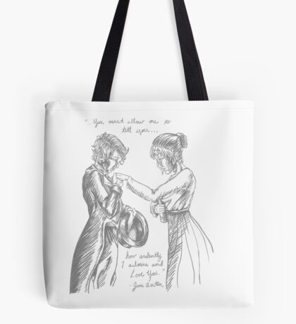 Pride and Prejudice with Lesbians Tote Bag