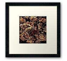 Black & Gold Framed Print