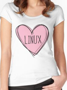 Linux Women's Fitted Scoop T-Shirt