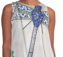 Blue mosaic dragonfly Contrast Tank