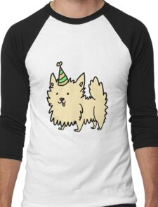 Dogs with Party Hats - Pomeranian Men's Baseball ¾ T-Shirt