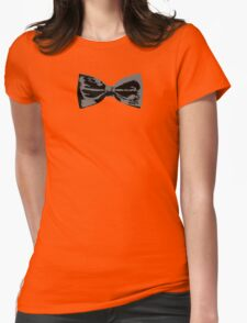 Bow Tie (Straight) Womens Fitted T-Shirt