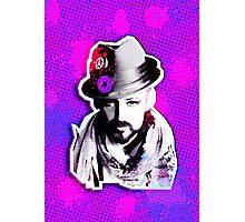 Boy George paint splatter Photographic Print