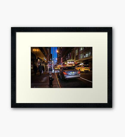 Lights of the Theater District Framed Print