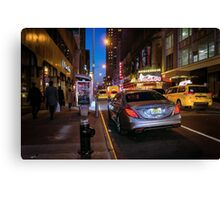 Lights of the Theater District Canvas Print