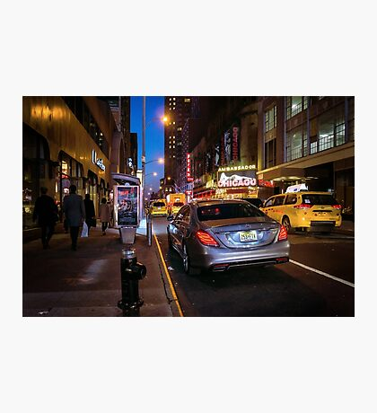 Lights of the Theater District Photographic Print