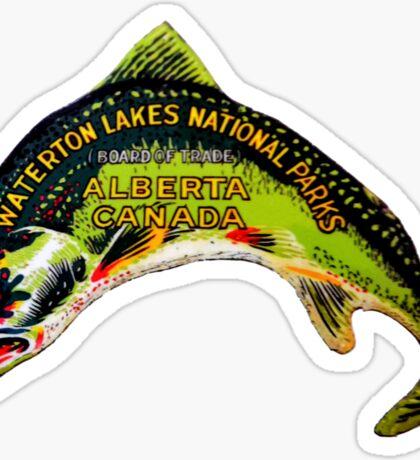 Waterton Lakes National Park Alberta Vintage Travel Decal Sticker