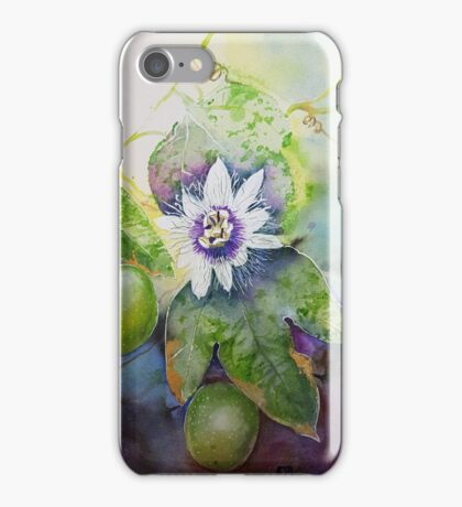 Passionfruit vine with passionflower  iPhone Case/Skin