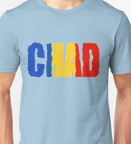 Chad Font with Flag Unisex T-Shirt