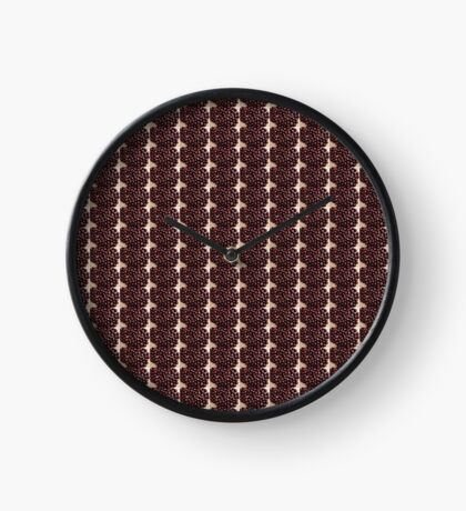 Aesculus hippocastanum chesnut on wooden board background Clock