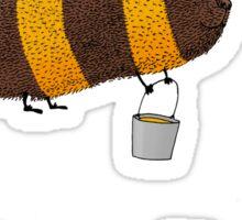 Bumble Bear with honey flies home Sticker