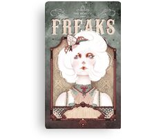 The Beauty Freaks - The Albino Canvas Print