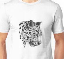 Fine Art Pen & Ink Drawing of a Leopard Unisex T-Shirt
