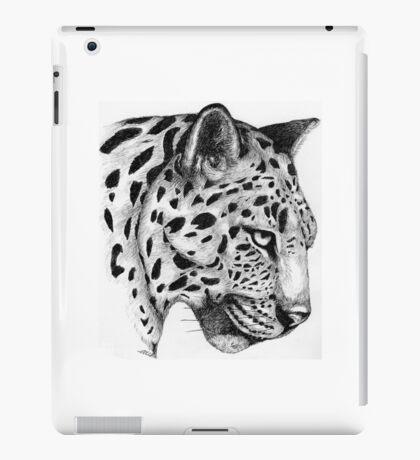 Fine Art Pen & Ink Drawing of a Leopard iPad Case/Skin