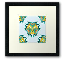 Psychedelic jungle kaleidoscope ornament 1 Framed Print