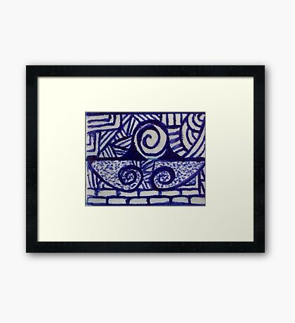 Dirty blue Framed Print