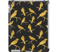 Black Gold Birds Pattern iPad Case/Skin