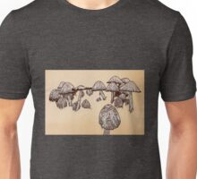 Large Mushrooms Unisex T-Shirt