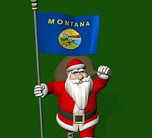 Santa Claus With Flag Of Montana by Mythos57