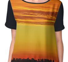 Sunset Clouds over New York City   Chiffon Top