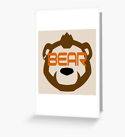 Phenom Bear - Grizzly Bear Goggles -  Greeting Card