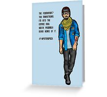 Hipster Spock Greeting Card