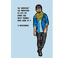 Hipster Spock Photographic Print