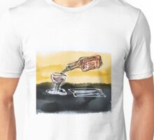 Large Retro Glass and bottle  Unisex T-Shirt