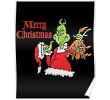 Mr Grinch Merry Christmas Poster