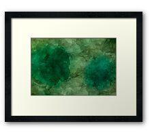Rock Slice - Green Framed Print