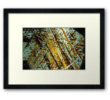 Rock Slice - Oranges Framed Print