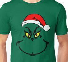 Mr Grinch With Santa Hat Unisex T-Shirt