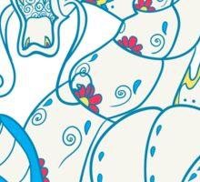 Gyarados Popmuerto | Pokemon & Day of The Dead Mashup Sticker