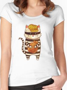 Catburglar Women's Fitted Scoop T-Shirt