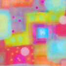 Circle and Squares Abstract  by susan stone