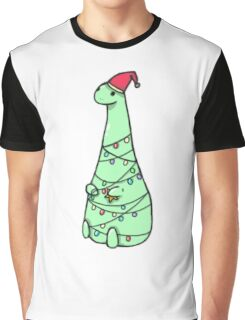 christmas Dinosaur Graphic T-Shirt