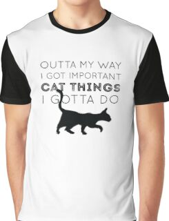 Important Cat Things Graphic T-Shirt