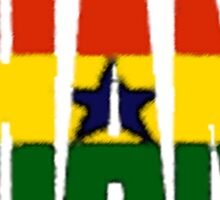 Ghana Font with Flag Sticker