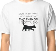 Important Cat Things Classic T-Shirt