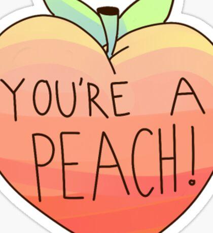 you're a peach Sticker