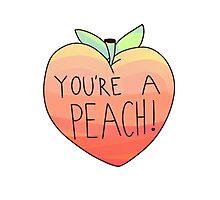 you're a peach Photographic Print