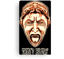 Weeping Angel - Don't Blink - Doctor Who Canvas Print