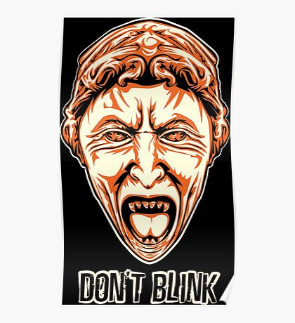 Weeping Angel - Don't Blink - Doctor Who Poster
