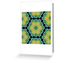Psychedelic jungle kaleidoscope ornament 2 Greeting Card