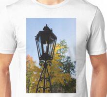 The Lantern and the Ginkgo - Retro Autumn Mood Unisex T-Shirt