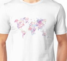 gradient map of the world Unisex T-Shirt